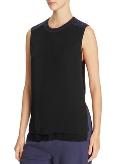DKNY Thread-Detail Sleeveless Combo Blouse