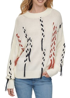 DKNY Thread Threw Cable Knit Sweater