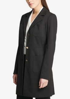 Dkny Three-Button Ponte-Knit Topper Jacket, Created for Macy's