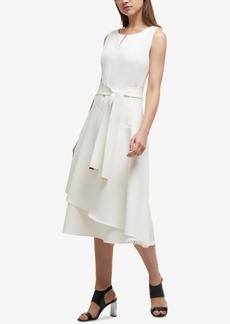Dkny Tie-Belt A-Line Dress, Created for Macy's