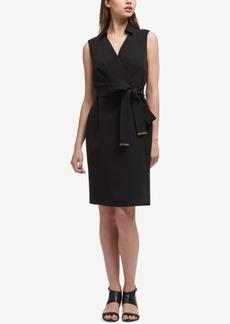 Dkny Tie-Belt Sheath Dress, Created for Macy's