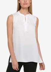 Dkny Tie-Front Keyhole Top