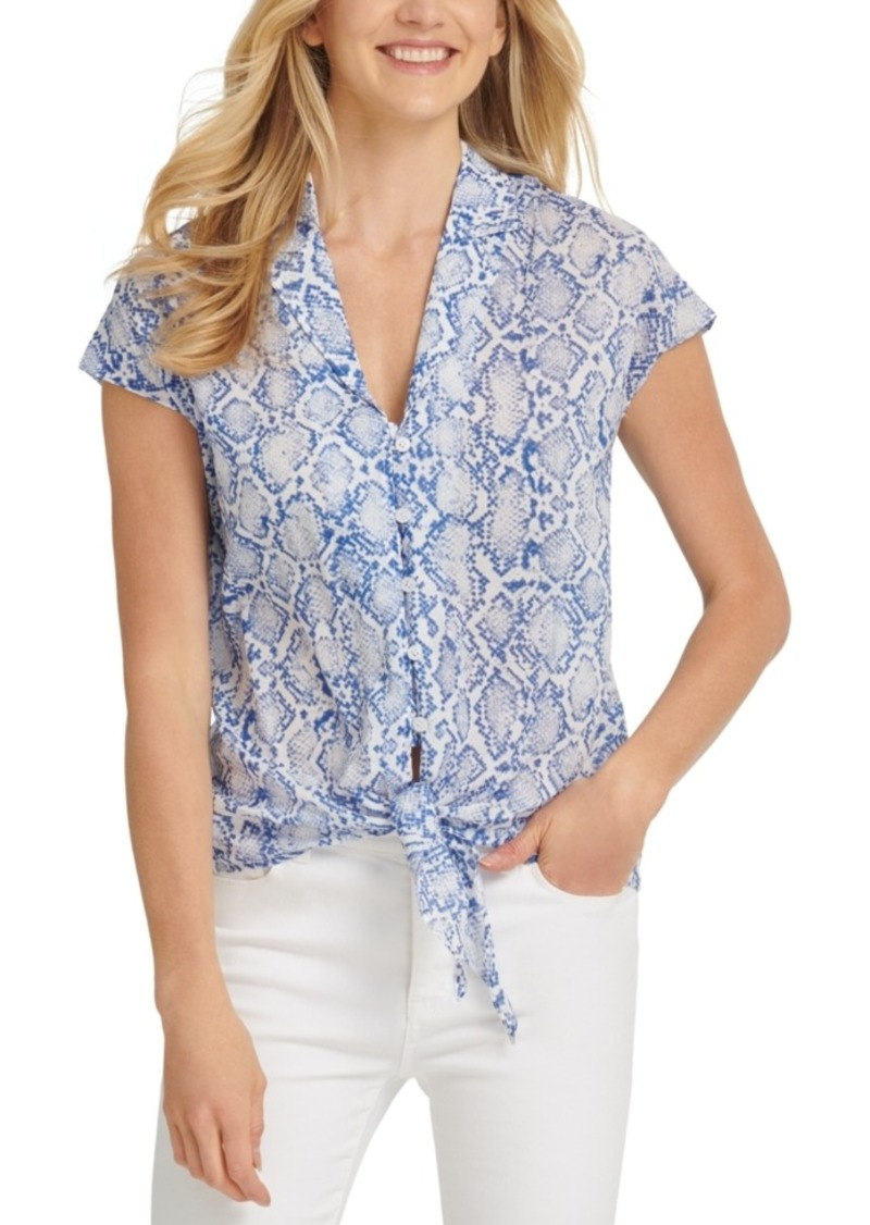 Dkny Tie-Front Shirt