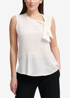 Dkny Tie-Neck Top, Created for Macy's