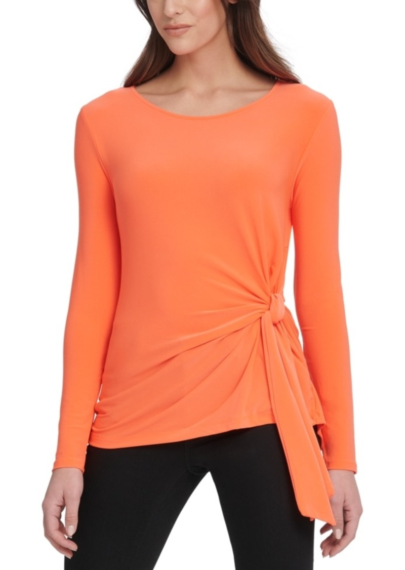 Dkny Tie-Side Top