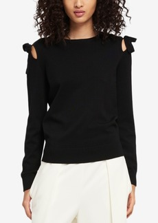 Dkny Tied Cold-Shoulder Sweater, Created for Macy's