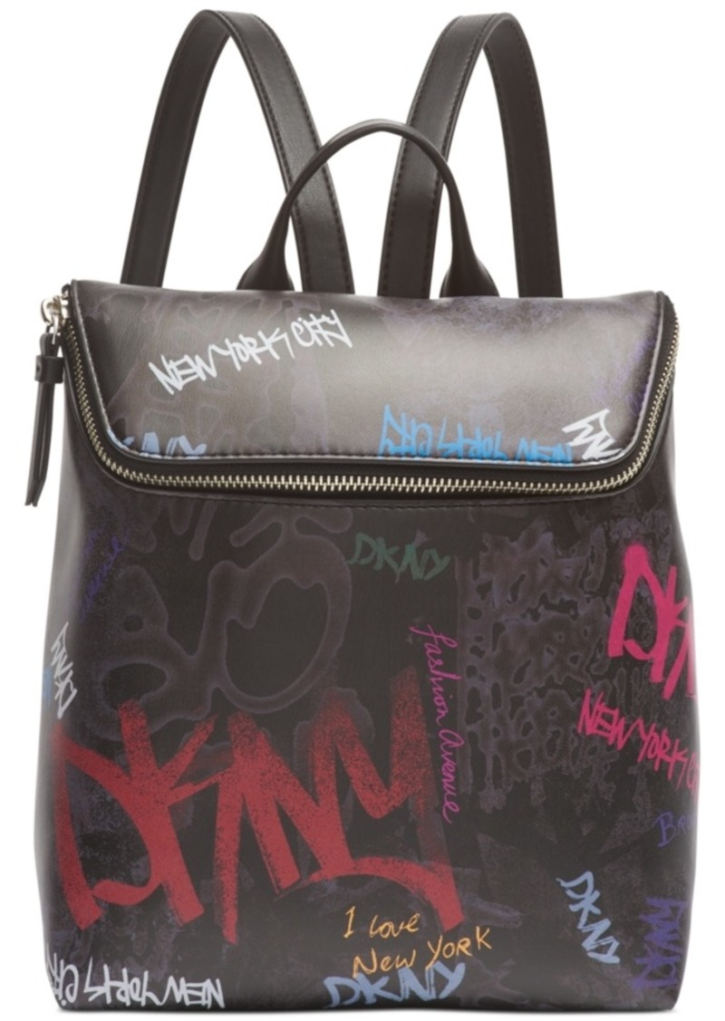 Dkny Tilly Graffiti Logo Backpack, Created for Macy's