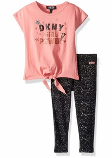DKNY Toddler 2 Piece Girl Power T-Shirt and Legging Set