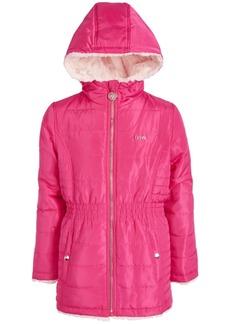 Dkny Toddler Girls Reversible Hooded Faux-Fur Jacket
