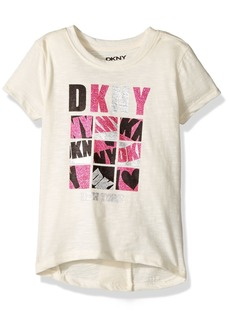 DKNY Girls' Toddler Short Sleeve T-Shirt (More Styles Available) 1004DG Vanilla Ice