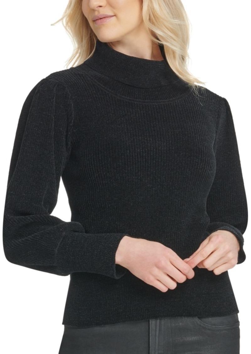 Dkny Turtleneck Bousant-Sleeve Sweater