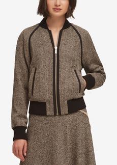 Dkny Tweed Bomber Jacket, Created for Macy's