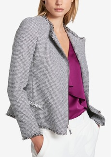 Dkny Tweed Moto Jacket