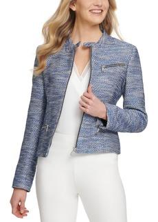Dkny Tweed Moto Jacket