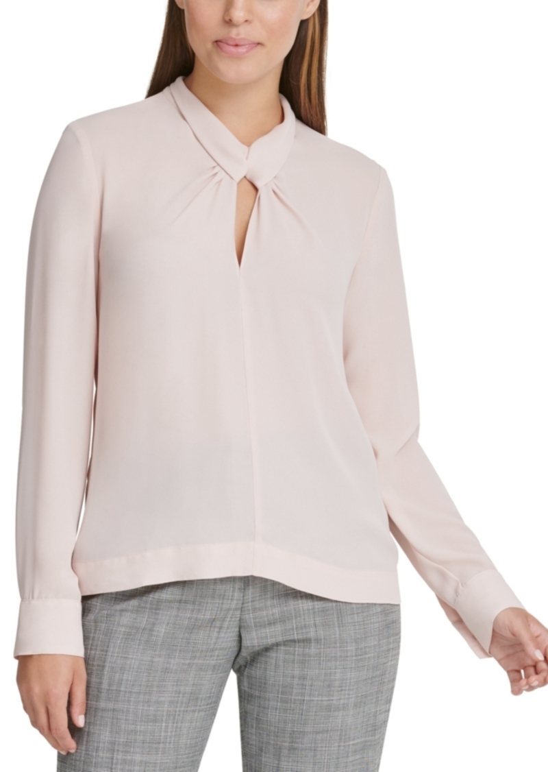 Dkny Twist-Neck Top