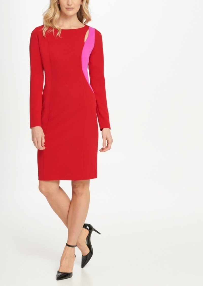 Dkny Two Tone Cutout Sheath Dress