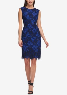 Dkny Two-Tone Lace Sheath Dress, Created for Macy's