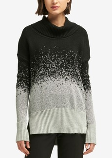 Dkny Two-Tone Turtleneck Sweater, Created for Macy's