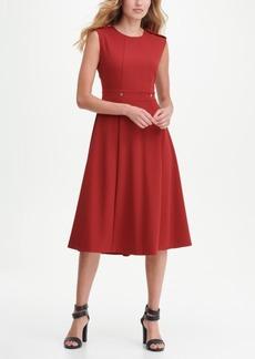 Dkny Utility Midi Fit Flare Dress
