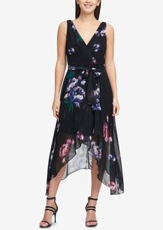 Dkny V-Neck Chiffon Wrap Dress, Created for Macy's