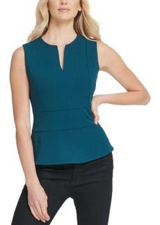 Dkny V-Neck Peplum Top
