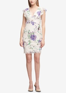 Dkny V-Neck Printed Lace Dress, Created for Macy's