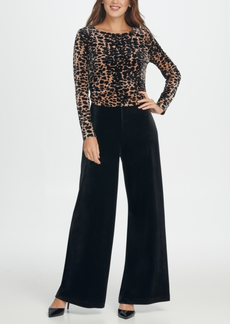 Dkny Velvet Animal Combo Jumpsuit