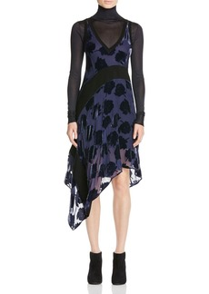 DKNY Velvet Rose Burnout Dress