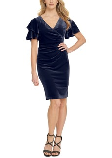 Dkny Velvet Ruched Dress
