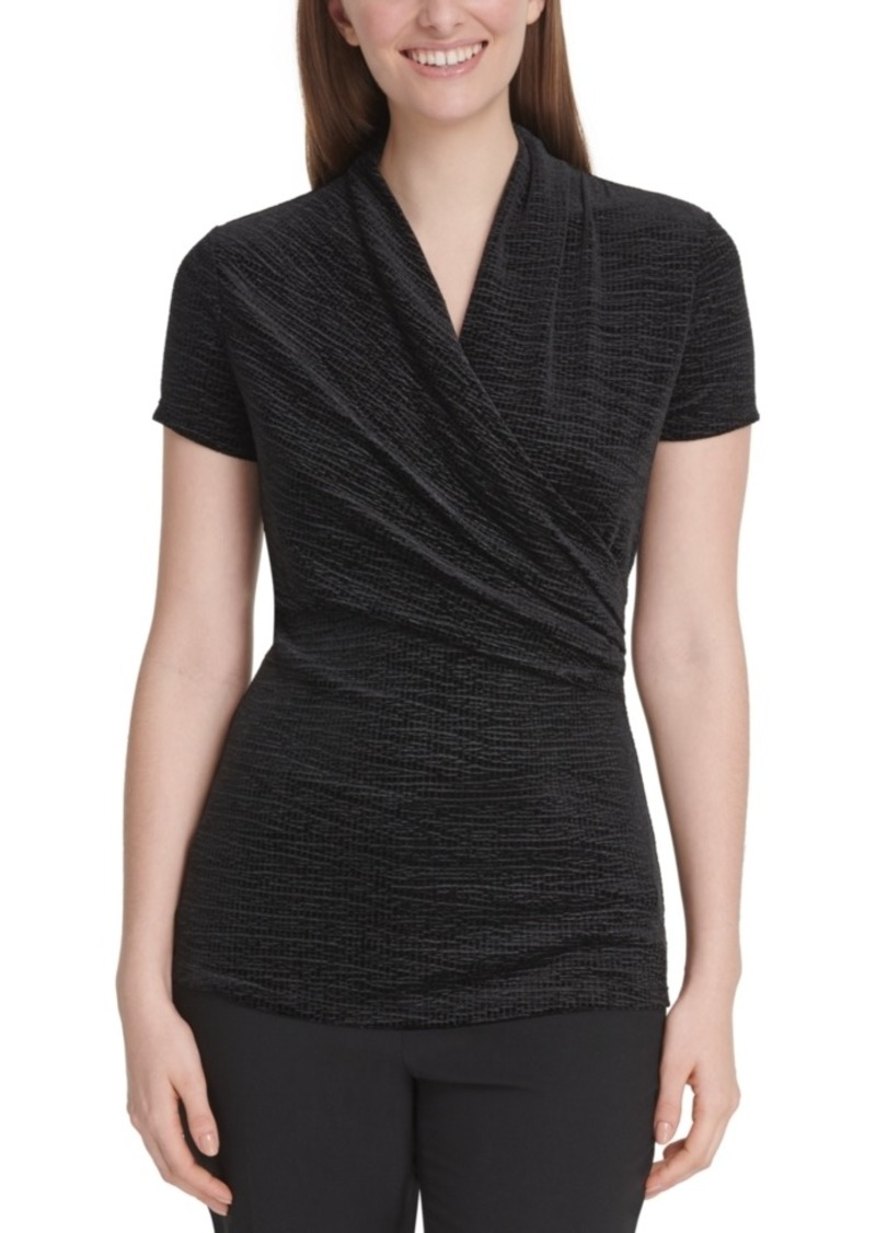 Dkny Velvet Side-Ruched Top