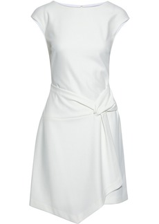Dkny Woman Asymmetric Draped Crepe Dress Ivory