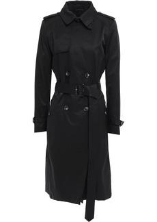 Dkny Woman Belted Cotton-blend Gabardine Trench Coat Black