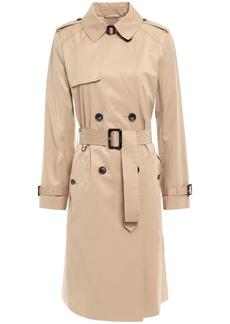 Dkny Woman Belted Cotton-blend Gabardine Trench Coat Beige