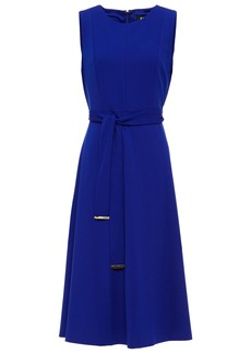 Dkny Woman Belted Stretch-crepe Midi Dress Bright Blue