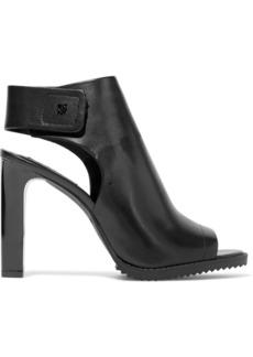 Dkny Woman Brin Leather Slingback Sandals Black