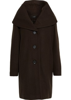 Dkny Woman Brushed Wool-blend Hooded Coat Army Green