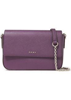 Dkny Woman Bryant Textured-leather Shoulder Bag Grape