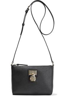 Dkny Woman Cecelie Textured-leather Shoulder Bag Black