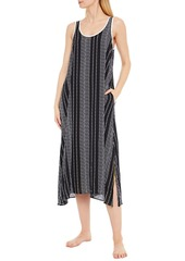 Dkny Woman Color Theory Logo-print Crepe De Chine Nightdress Black