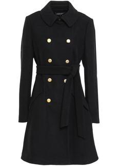 Dkny Woman Double-breasted Wool-blend Felt Coat Black