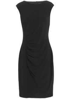 Dkny Woman Draped Stretch-jersey Dress Black