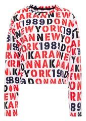 Dkny Woman Embroidered Printed Fleece Pajama Top White