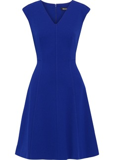 Dkny Woman Flared Stretch-crepe Dress Indigo