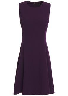 Dkny Woman Flared Stretch-crepe Mini Dress Dark Purple