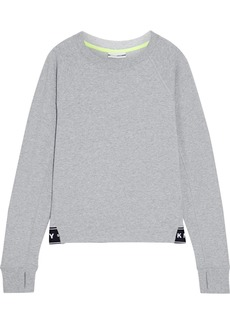 Dkny Woman French Cotton-blend Terry Sweatshirt Gray