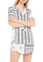 Dkny Woman Printed Crepe De Chine Pajama Set White