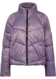 Dkny Woman Holographic Quilted Shell Jacket Lavender