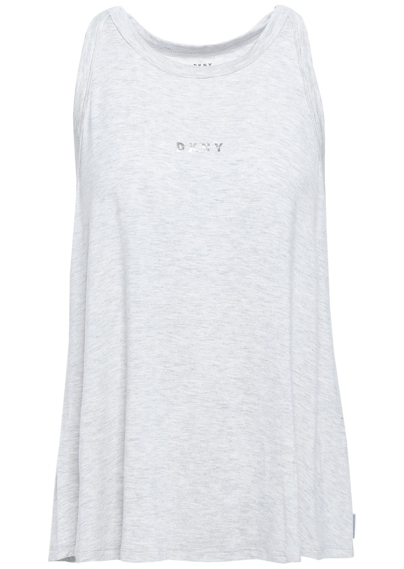 Dkny Woman Jersey Pajama Top Light Gray
