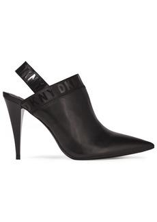 Dkny Woman Kris Leather Slingback Mules Black