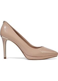 Dkny Woman Lexi Faux Patent-leather Platform Pumps Blush